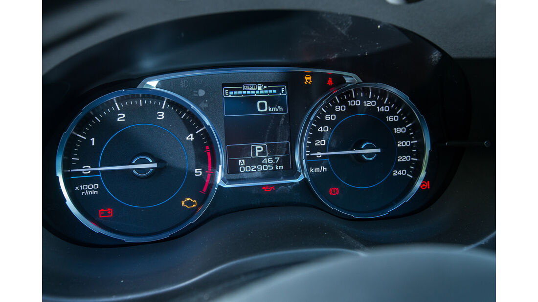 Subaru Forester 2.0D, Rundinstrumente