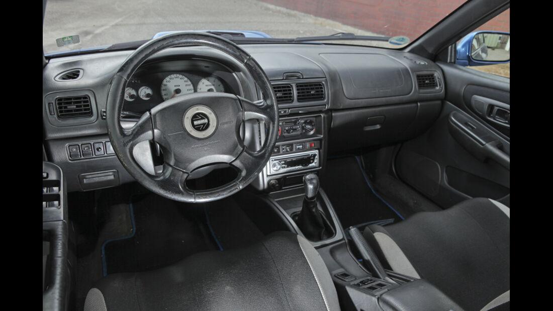 Subaru Impreza GT, Cockpit, Lenkrad