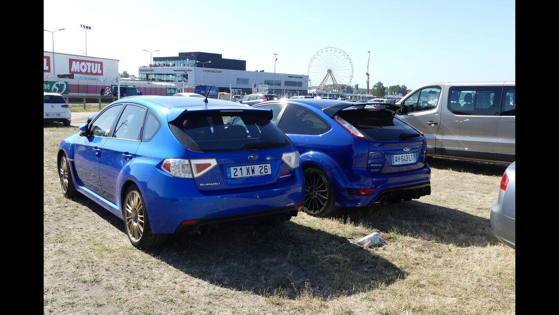 Subaru Impreza STI - Ford Focus RS - Carspotting - Fan-Autos - 24h-Rennen Le Mans 2017