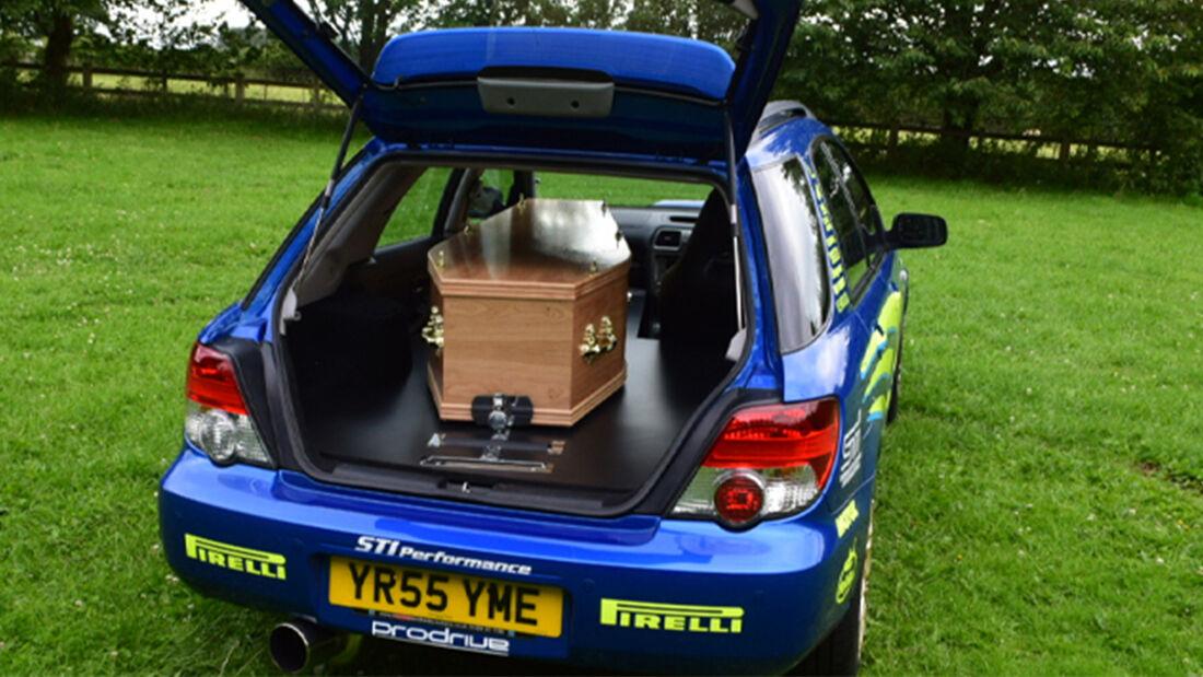Subaru Impreza WRX Sportkombi Leichenwagen Umbau UK