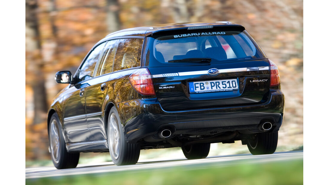 Subaru Legacy, Heckansicht