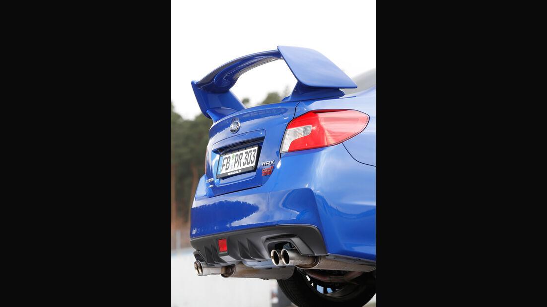 Subaru WRX STI, Heckspoiler, Heckflügel