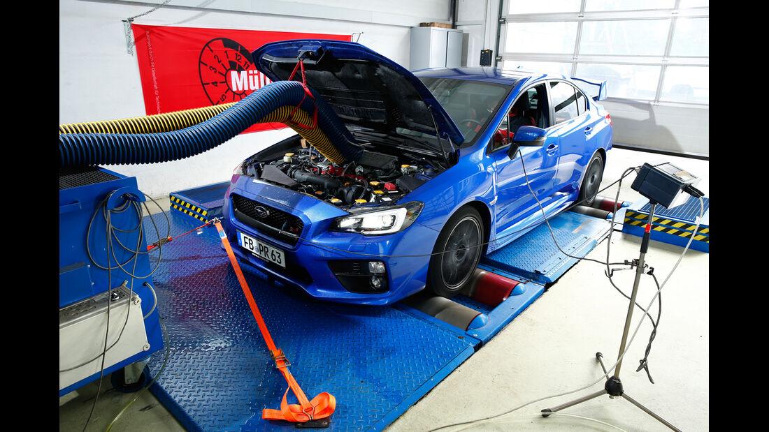 Subaru WRX STI, Prüfstand