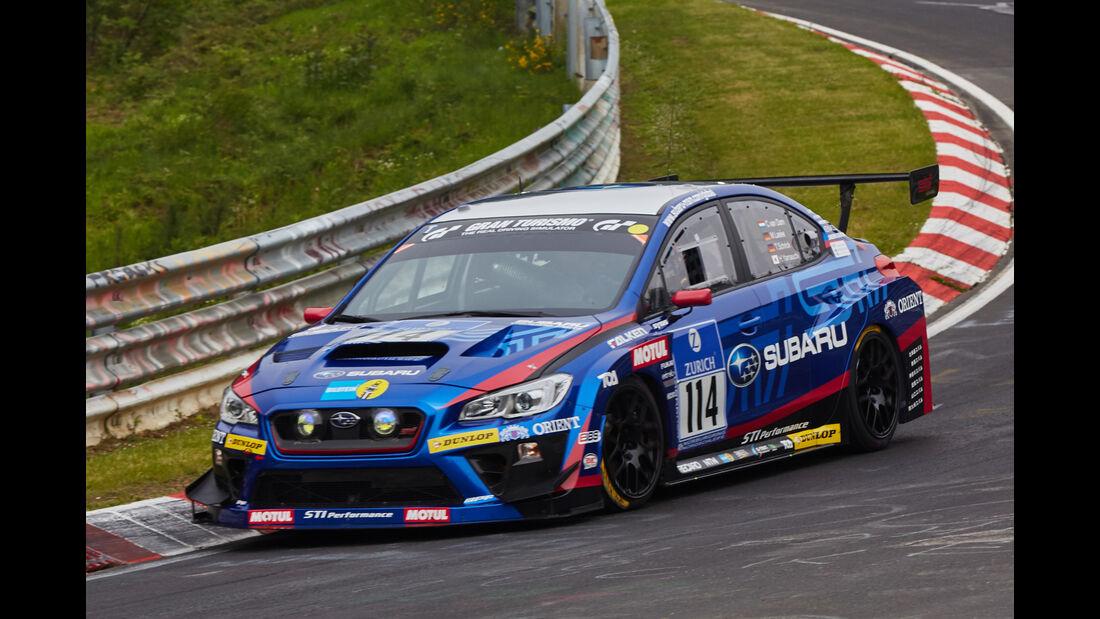 Subaru WRX STI - Subaru Tecnica International - Startnummer: #114 - Bewerber/Fahrer: Carlo van Dam, Hideki Yamauchi, Tim Schrick, Marcel Lasée - Klasse: SP3 T