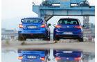 Subaru WRX STI, VW Golf, Heckansicht