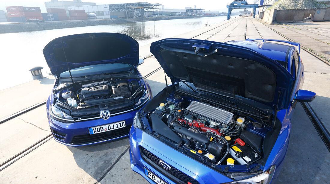 Subaru WRX STI, VW Golf, Motoren