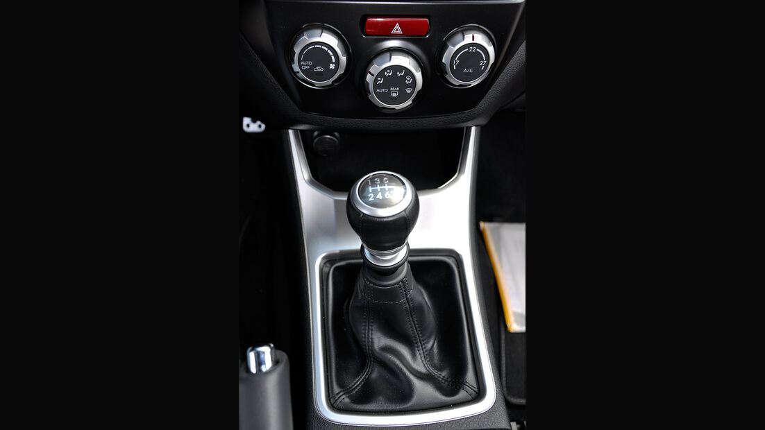 Subaru WRX STi, Mittelkonsole, Schalthebel