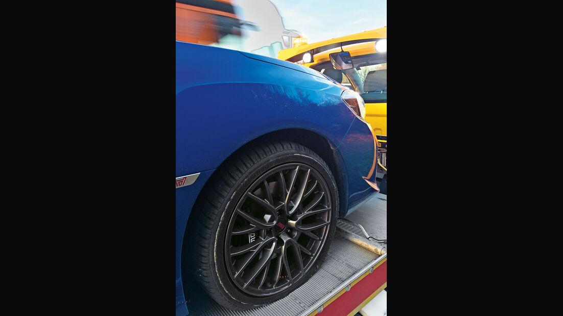 Subaru WRX STi, Rad, Felge