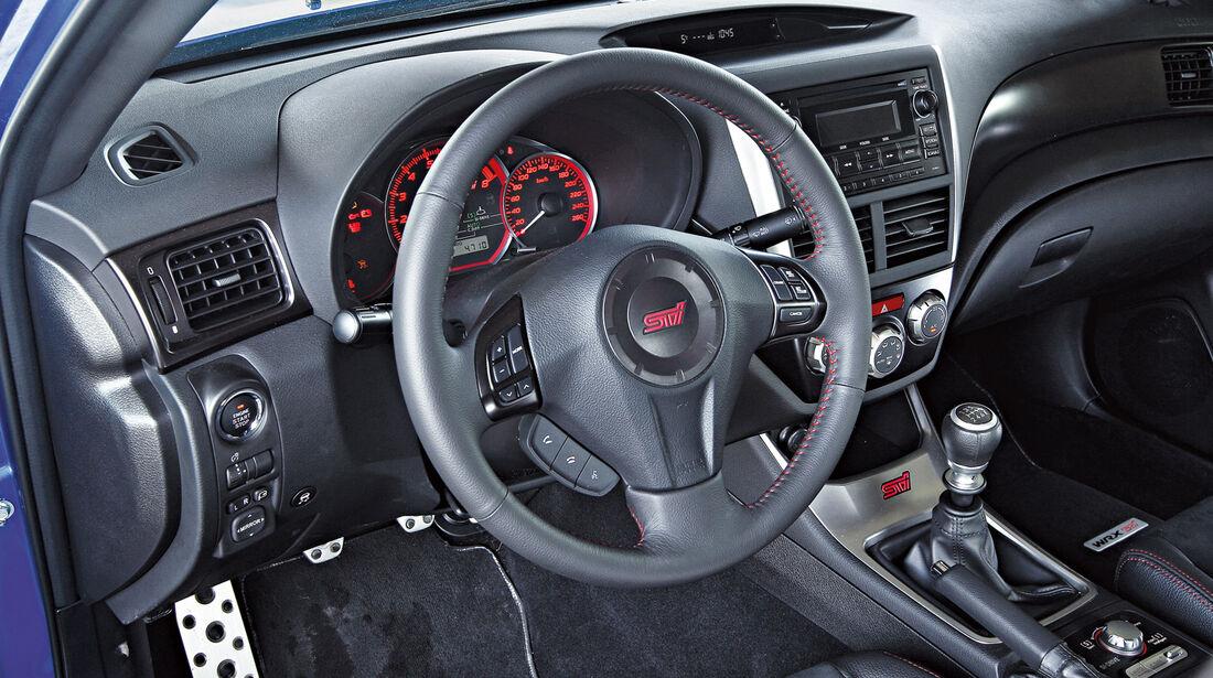 Subaru WRX Sti, Cockpit, Lenkrad