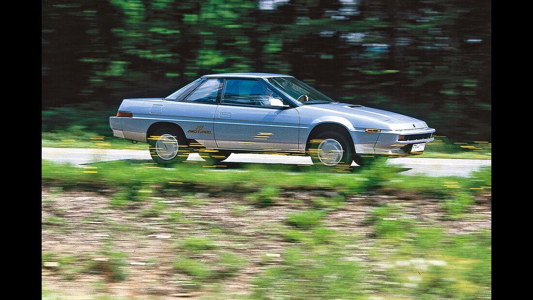 Subaru XT Turbo, Seitenansicht