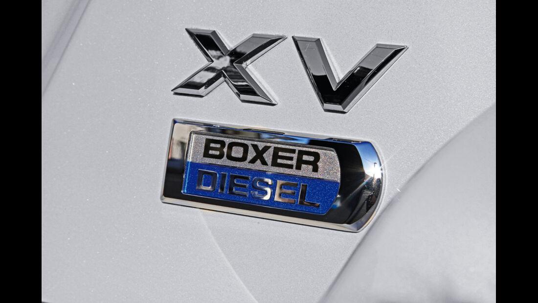 Subaru XV, Emblem, Typenbezeichnung