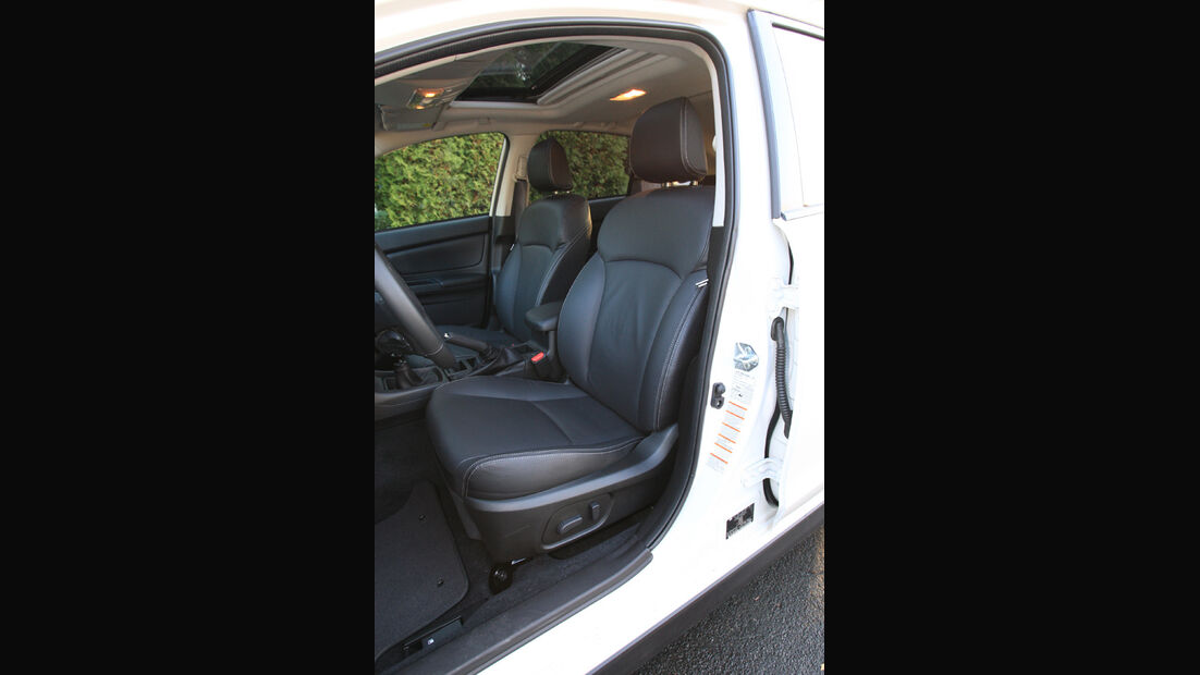 Subaru XV, Fahrersitz