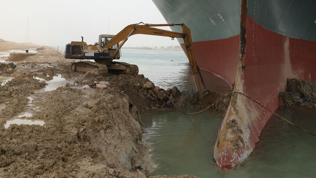 Suezkanal Ever Given Containerschiff Havarie