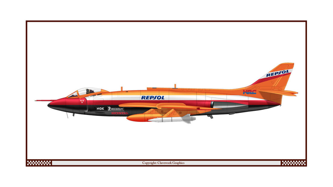 Supermarine Scimitar - Repsol Honda - Racing-Planes - 2015