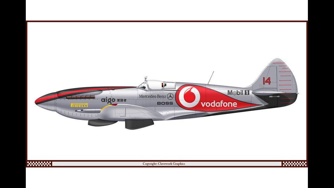 Supermarine Spitfire - McLaren - Racing-Planes - 2015