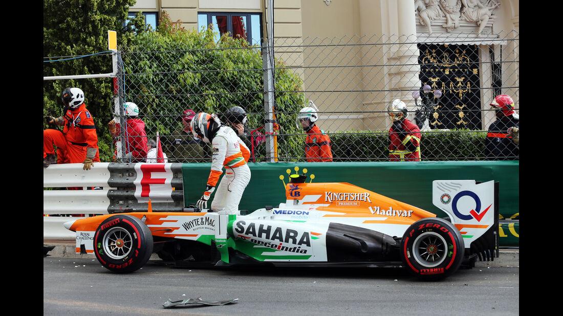 Sutil - GP Monaco - Crash - 2013