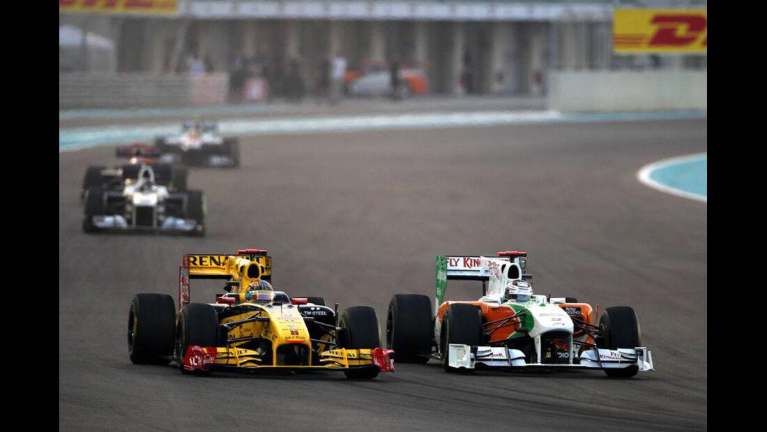 Sutil Kubica GP Abu Dhabi 2010