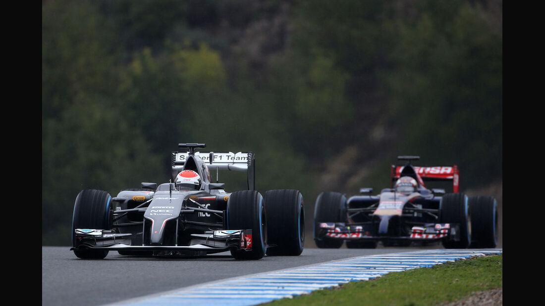 Sutil & Kvyat - Formel 1 - Jerez - Test - 31. Januar 2014