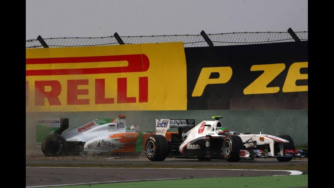 Sutil Perez Formel 1 GP China 2011