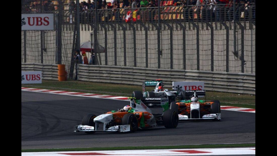 Sutil di Resta Formel 1 GP China 2011