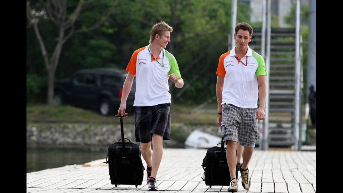 Sutil und Hülkenberg GP Kanada 2011