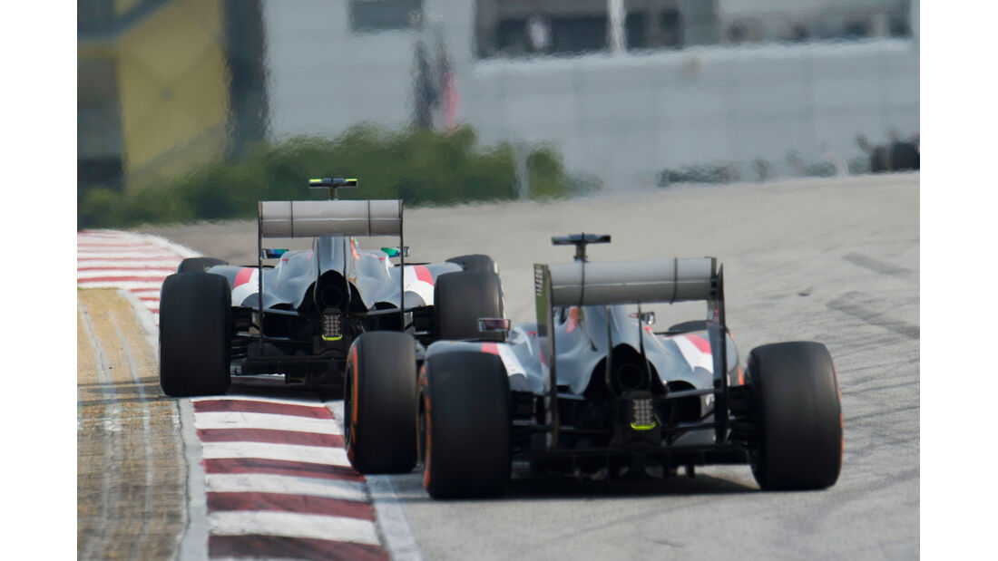 Sutil vs. Gutierrez - GP Malaysia 2014