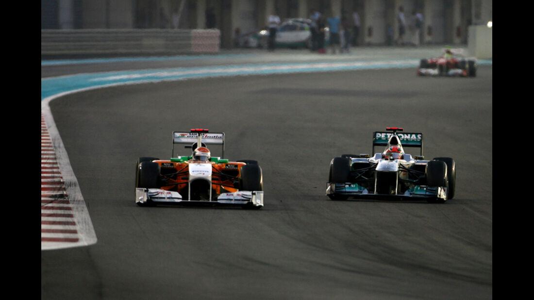 Sutil vs. Hamilton GP Abu Dhabi 2011
