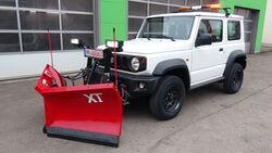 Suzuki Jimny Schneepflug Winterdienst