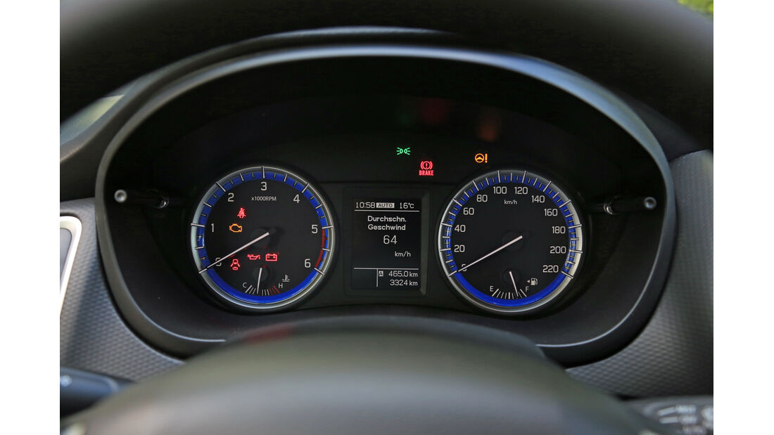 Suzuki SX4-Cross 1.6 DDiS 4x4 Comfort Plus, Rundinstrumente