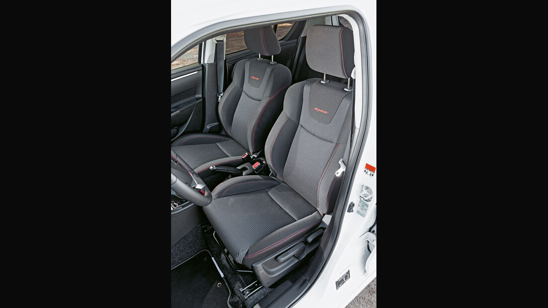 Suzuki Swift Sport, Fahrersitz