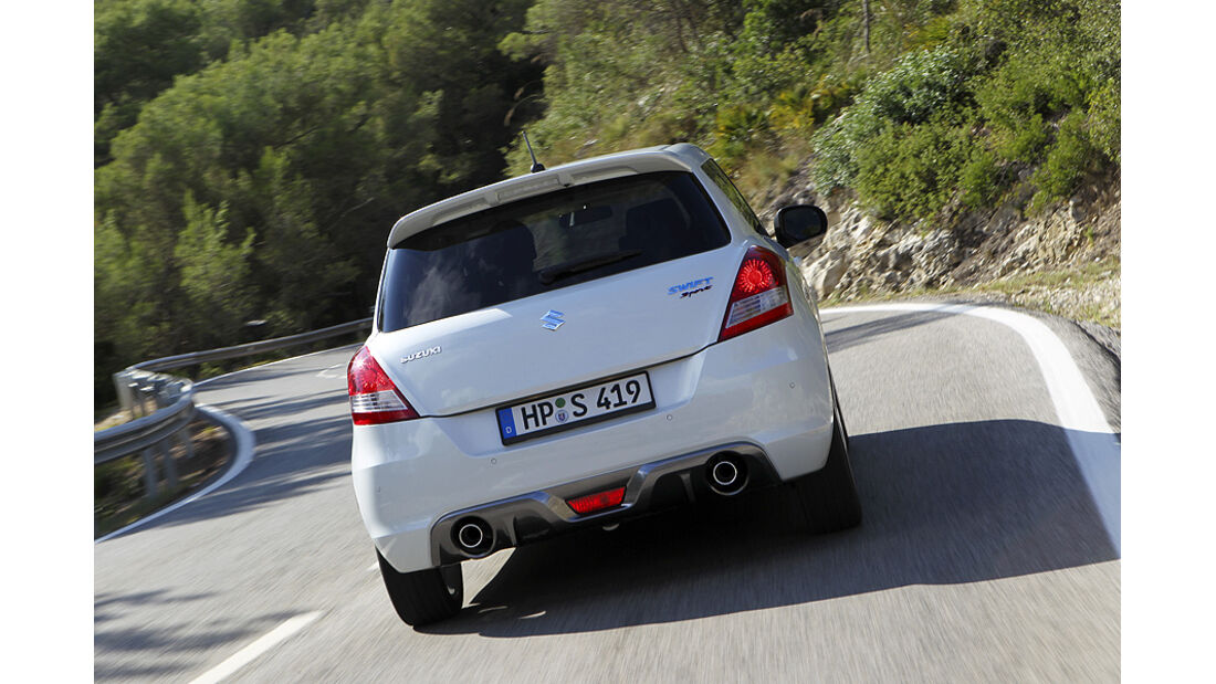 Suzuki Swift Sport, Heck