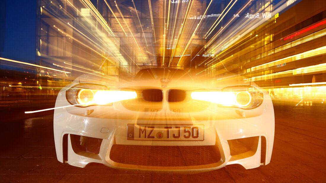 TJ-BMW 1er Coupé V10 SMG, Frontansicht, Frontscheinwerfer