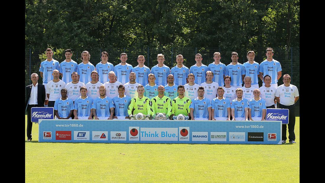 TSV 1860 München Mannschaftsfoto, VW Trikotsponsor