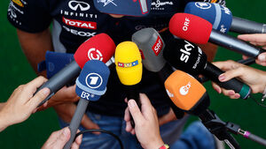 TV-Mikrophone - Interview - Formel 1
