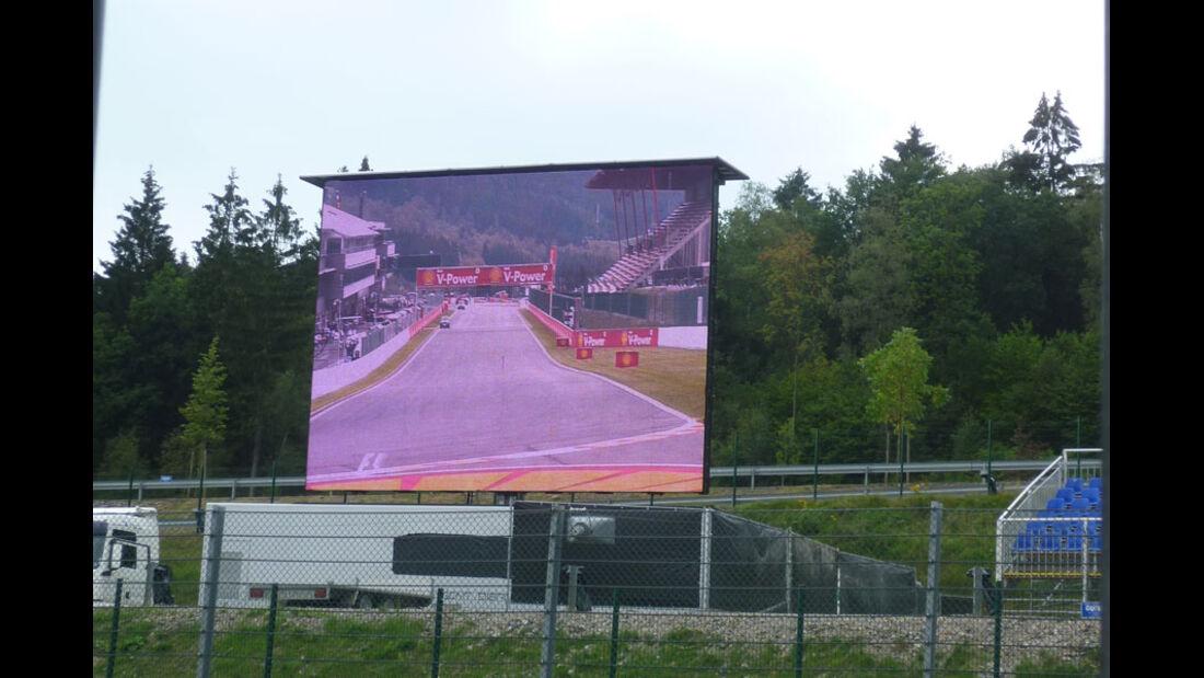 TV-Screen - GP Belgien - 25. August 2012