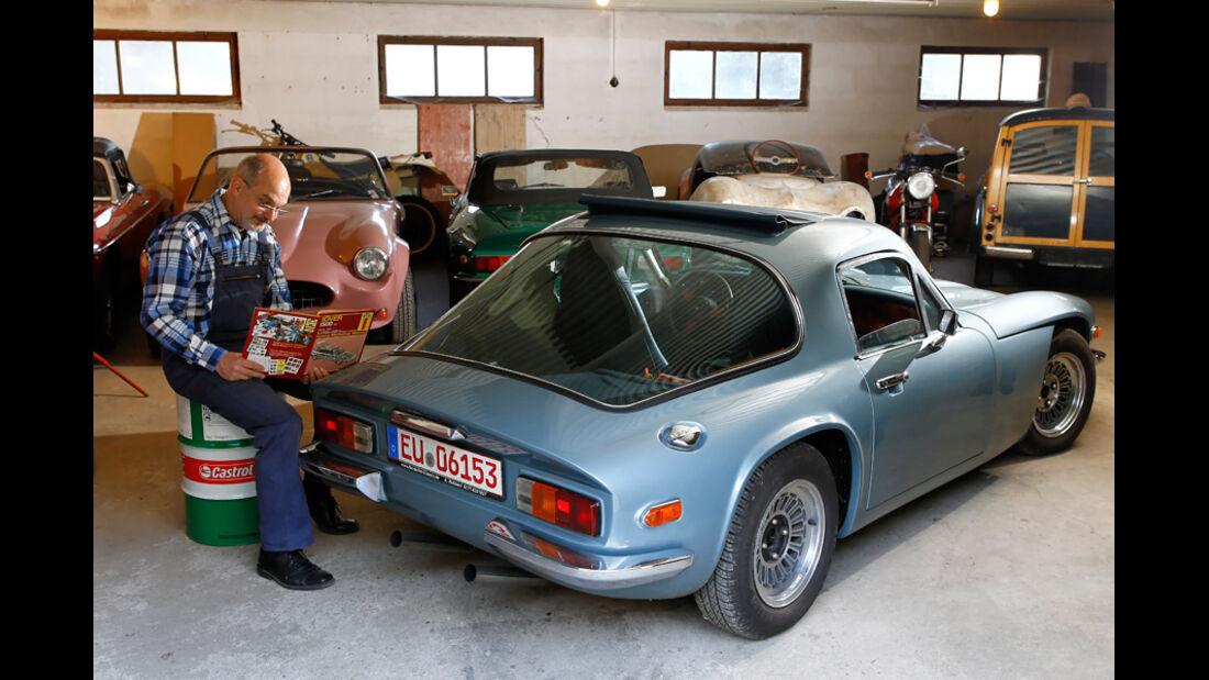 TVR 2000 M, Garage, Seitenansicht