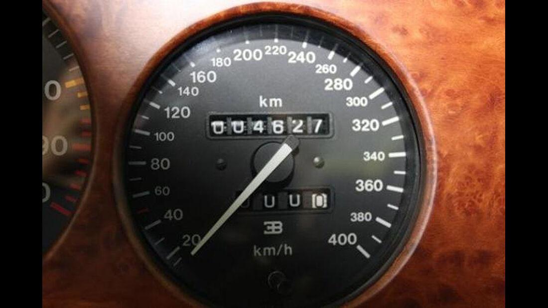 Tachometer Bugatti EB 110 von Michael Schumacher
