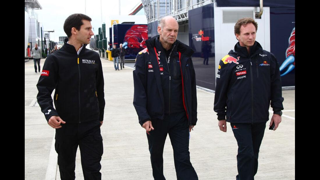 Taffin, Newey & Horner - GP England - Qualifying - 9. Juli 2011