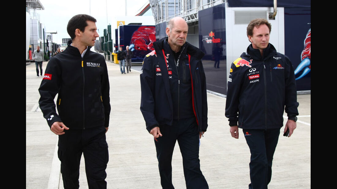 Taffin, Newey & Horner - GP England - Qualifying - 9. Juli 2011