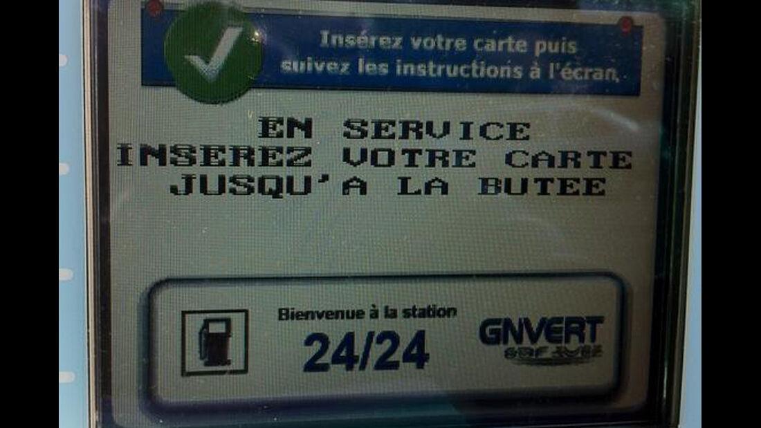 Tanken Frankreich Kreditkarte