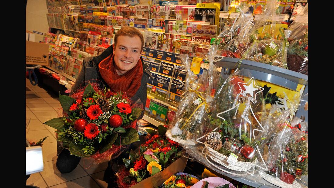 Tankstellengeschenke, Max Hilger, Blumen