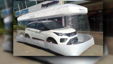 Tata Safety Bubble Corona Schutz Neuwagen