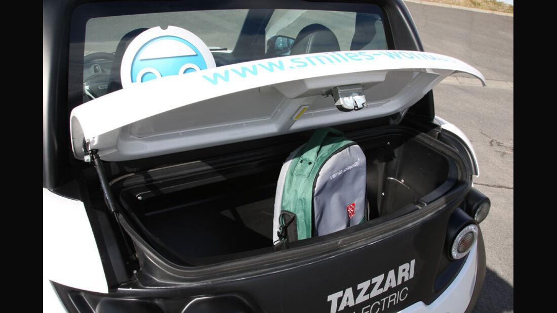 Tazzari Zero, Kofferraum