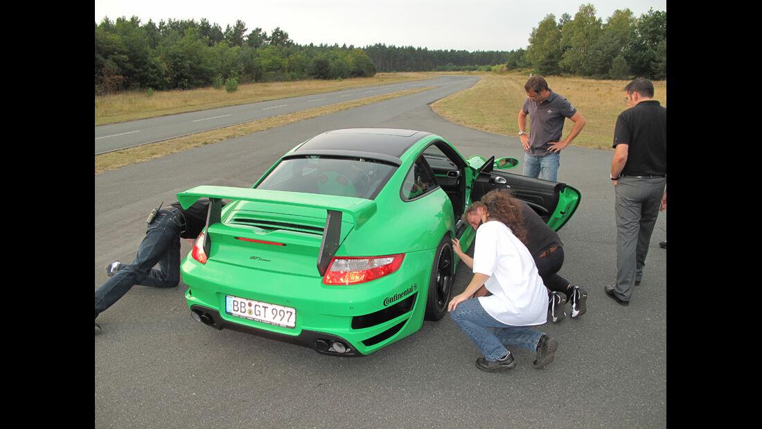 Teachart-Porsche GT Messung Reifen
