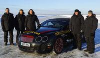Team Bentley Continental Supersports Convertible Geschwindigkeitsweltrekord auf Eis