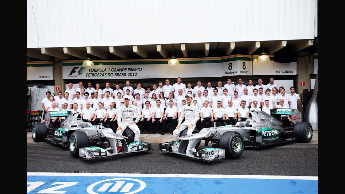 Team Mercedes GP Brasilien 2012