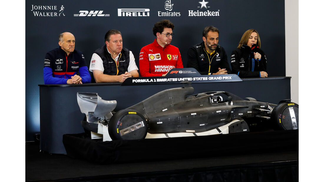 Teamchef-PK - Formel 1 - GP USA - Austin - 1. November 2019