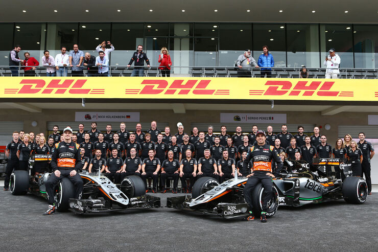 Teamfoto - Force India - Formel 1 - 2015