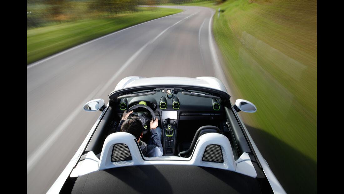 Techart-Porsche 718 Boxster S, Fahrersicht