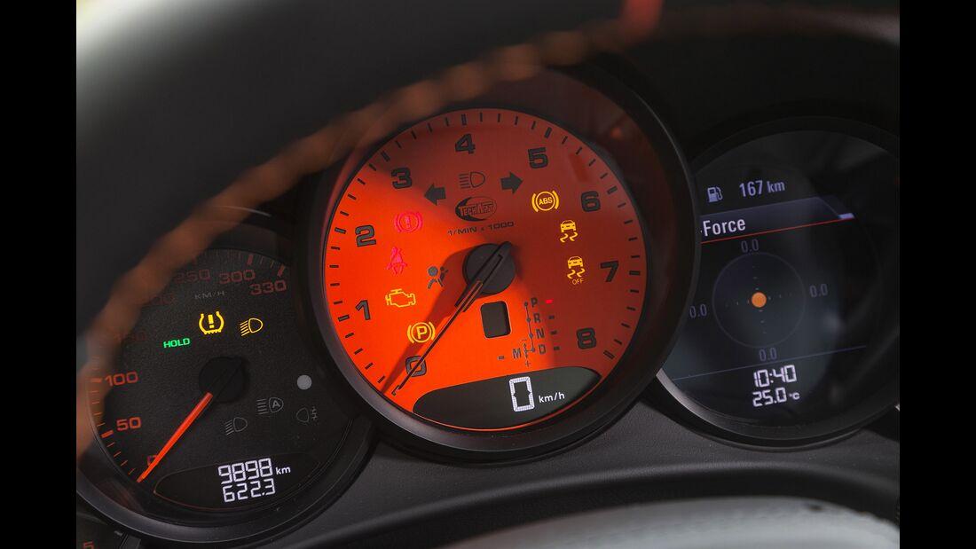 Techart-Porsche 911 Carrera S, Fahrbericht, Tuning, Tacho